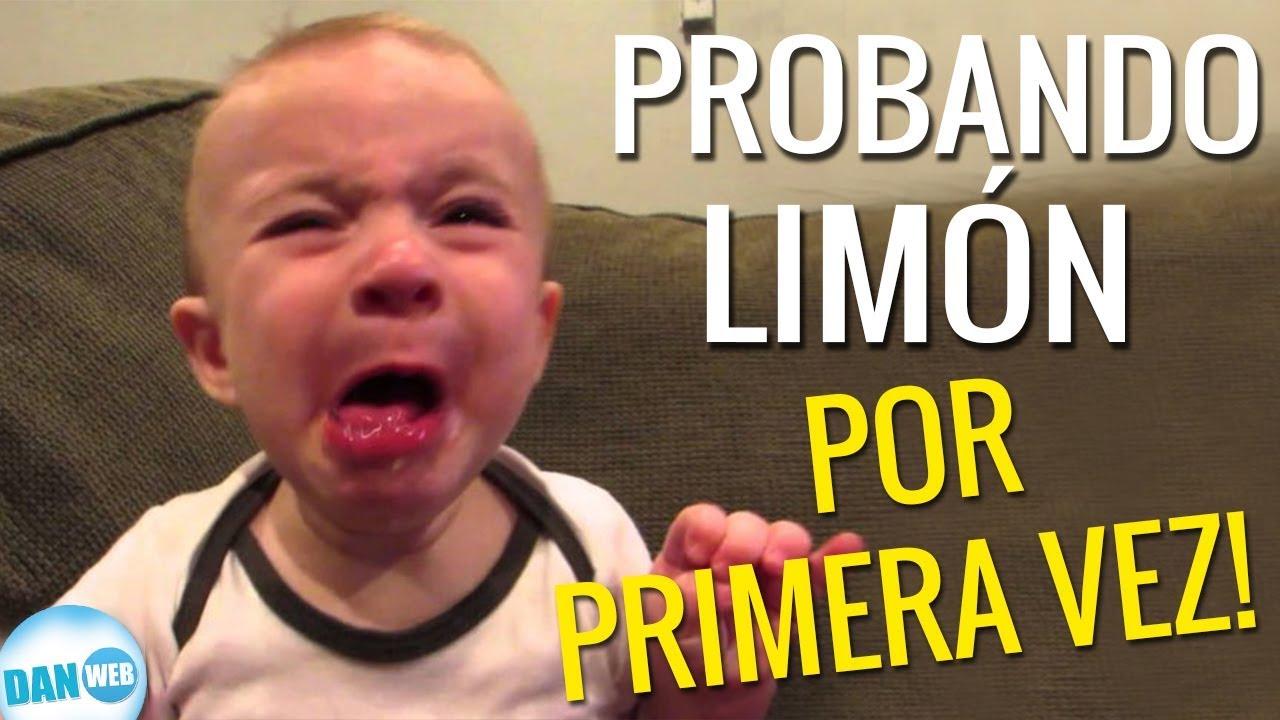 Bebés probando limones por primera vez