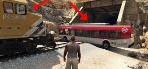 ¿Es posible parar el tren en GTA V?