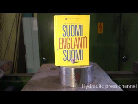 Prensa hidráulica vs libro
