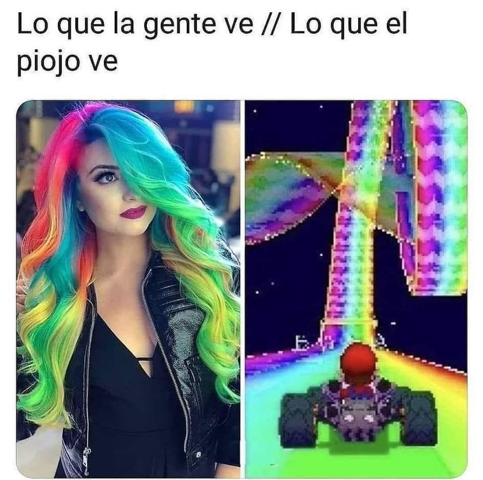 La nueva moda de los peinados arco iris