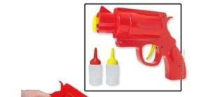 Cosas innecesarias como una pistola para salsas