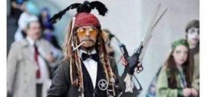 Cuando te disfrazas de los personajes de Johnny Depp