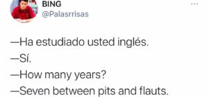 Chiste de ¿Sabes hablar inglés?